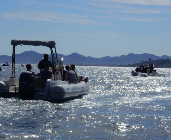Team building bateau Zodiac Incentive Cannes