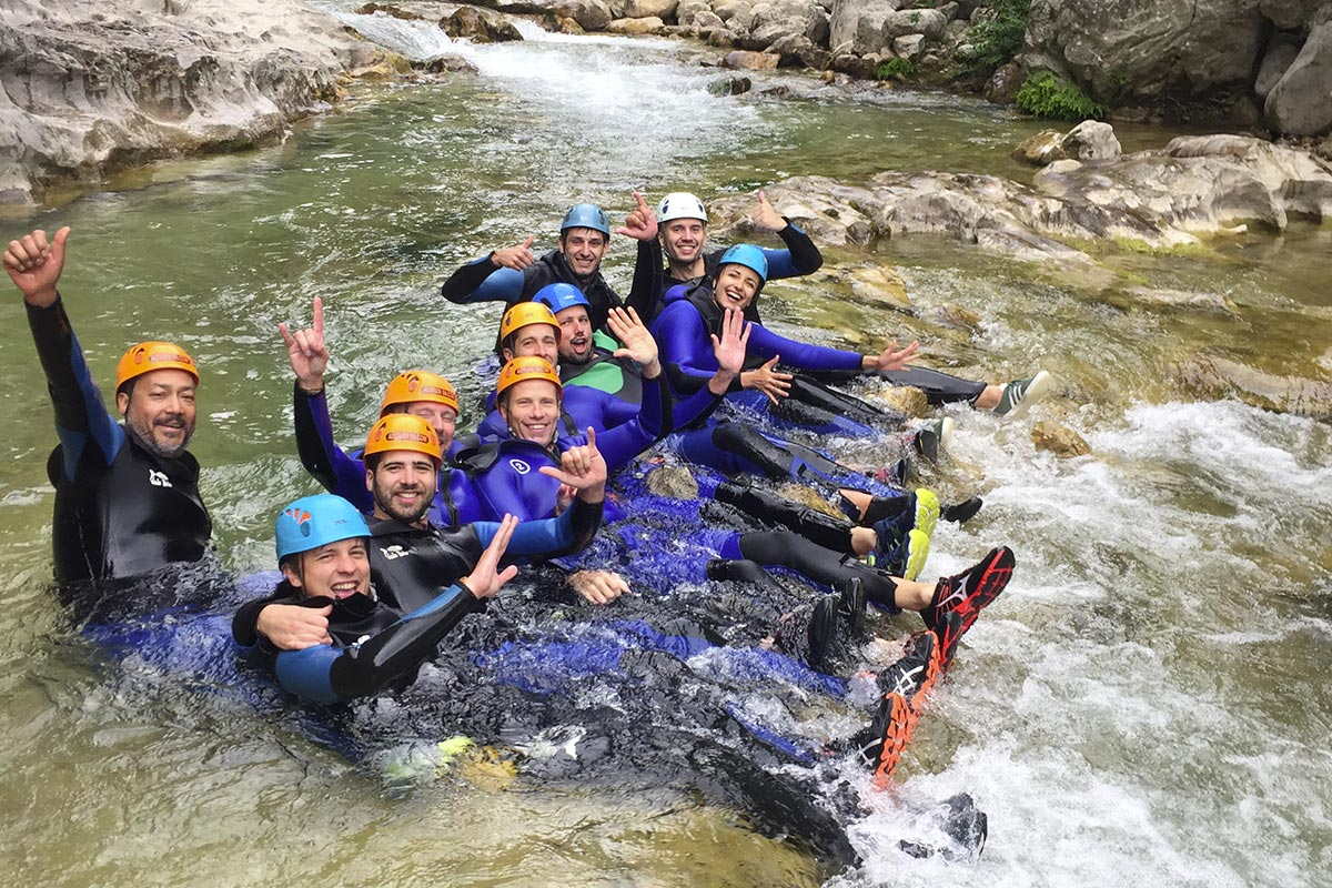 Canyoning team building Nice Côte d'Azur
