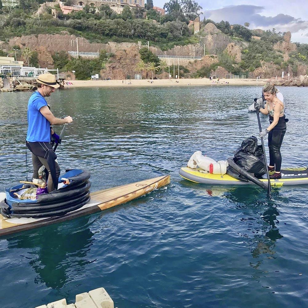 Paddle Cleaning || Team building écologique Côte d'Azur